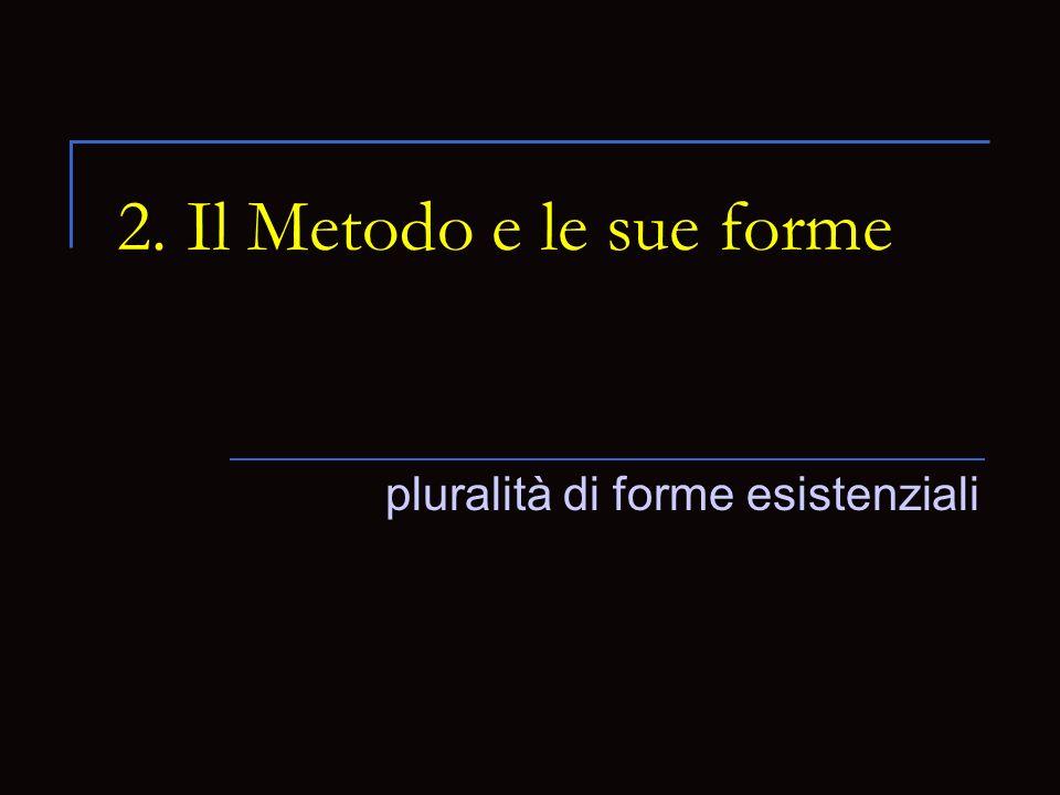 2. Il Metodo e le sue forme pluralità di forme esistenziali
