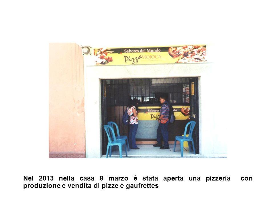 Nel 2013 nella casa 8 marzo è stata aperta una pizzeria con produzione e vendita di pizze e gaufrettes