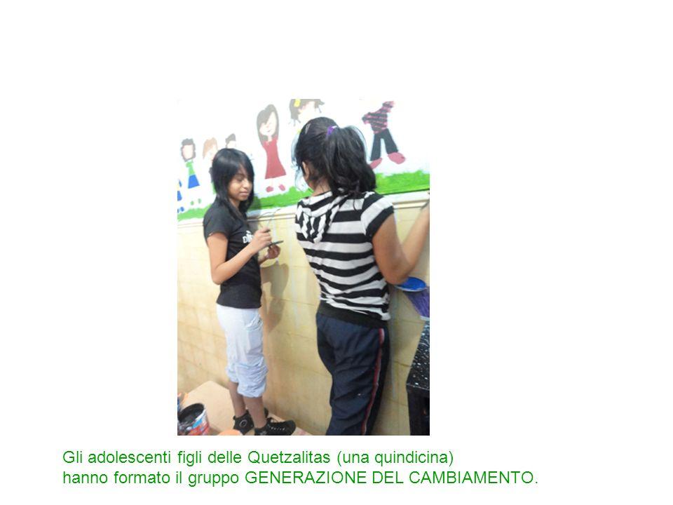 Gli adolescenti figli delle Quetzalitas (una quindicina) hanno formato il gruppo GENERAZIONE DEL CAMBIAMENTO.