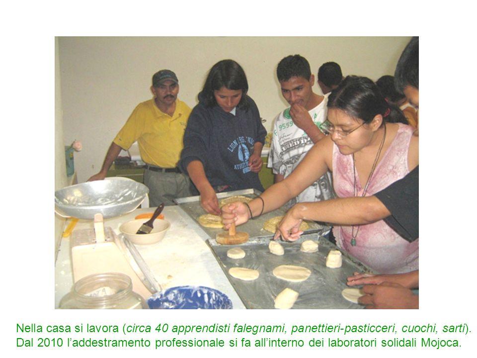 Nella casa si lavora (circa 40 apprendisti falegnami, panettieri-pasticceri, cuochi, sarti). Dal 2010 laddestramento professionale si fa allinterno de