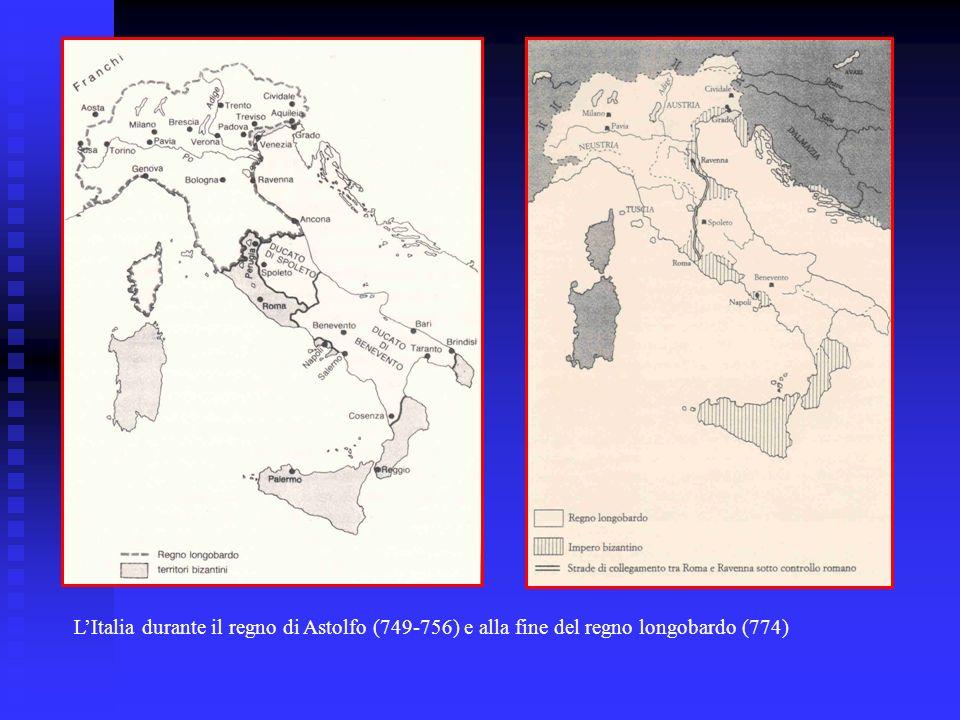 LItalia durante il regno di Astolfo (749-756) e alla fine del regno longobardo (774)