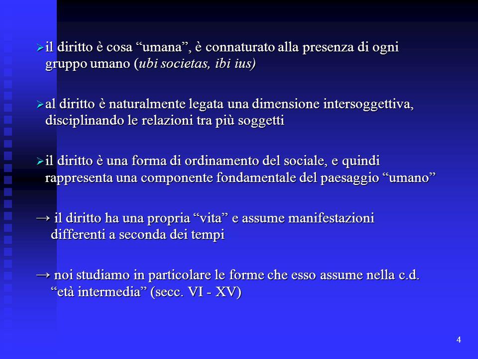 4 il diritto è cosa umana, è connaturato alla presenza di ogni gruppo umano (ubi societas, ibi ius) il diritto è cosa umana, è connaturato alla presen