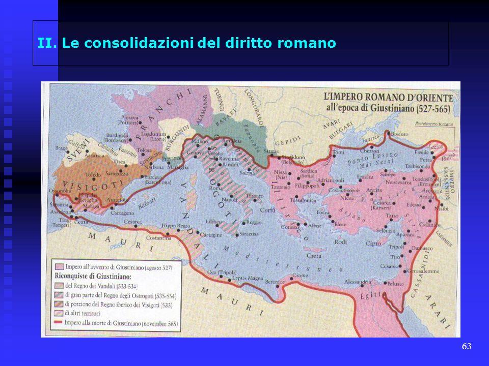 63 II. Le consolidazioni del diritto romano
