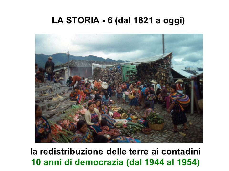 LA STORIA - 6 (dal 1821 a oggi) la redistribuzione delle terre ai contadini 10 anni di democrazia (dal 1944 al 1954)