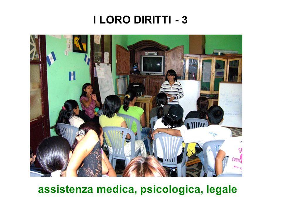 I LORO DIRITTI - 3 assistenza medica, psicologica, legale