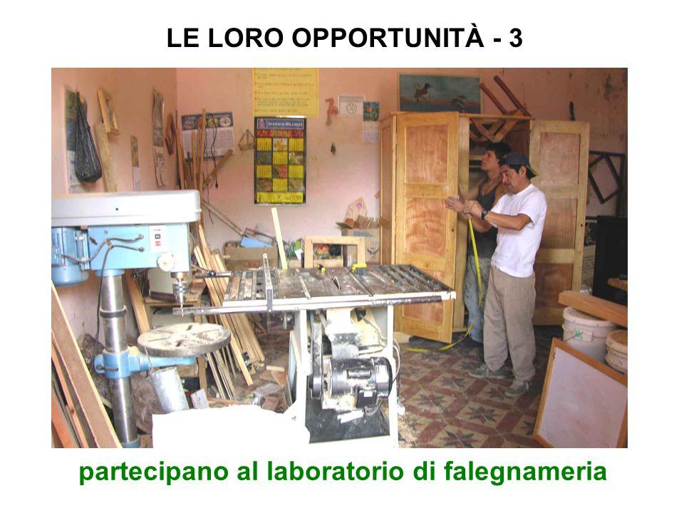 partecipano al laboratorio di falegnameria LE LORO OPPORTUNITÀ - 3