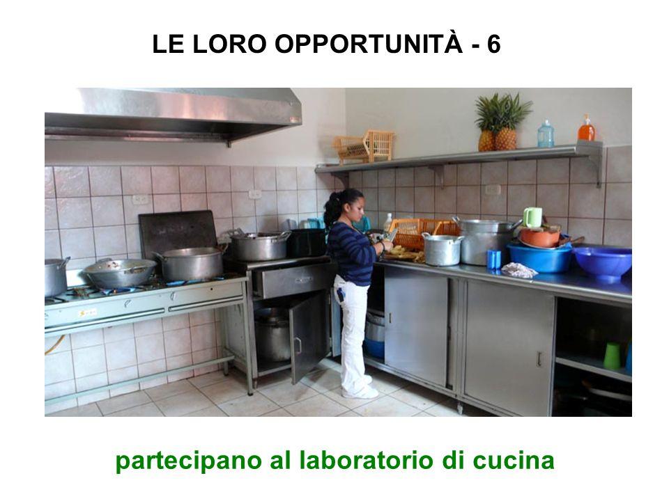partecipano al laboratorio di cucina LE LORO OPPORTUNITÀ - 6
