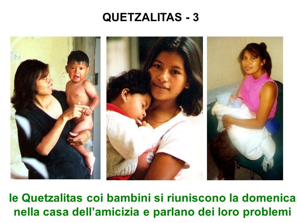 QUETZALITAS - 3 le Quetzalitas coi bambini si riuniscono la domenica nella casa dellamicizia e parlano dei loro problemi