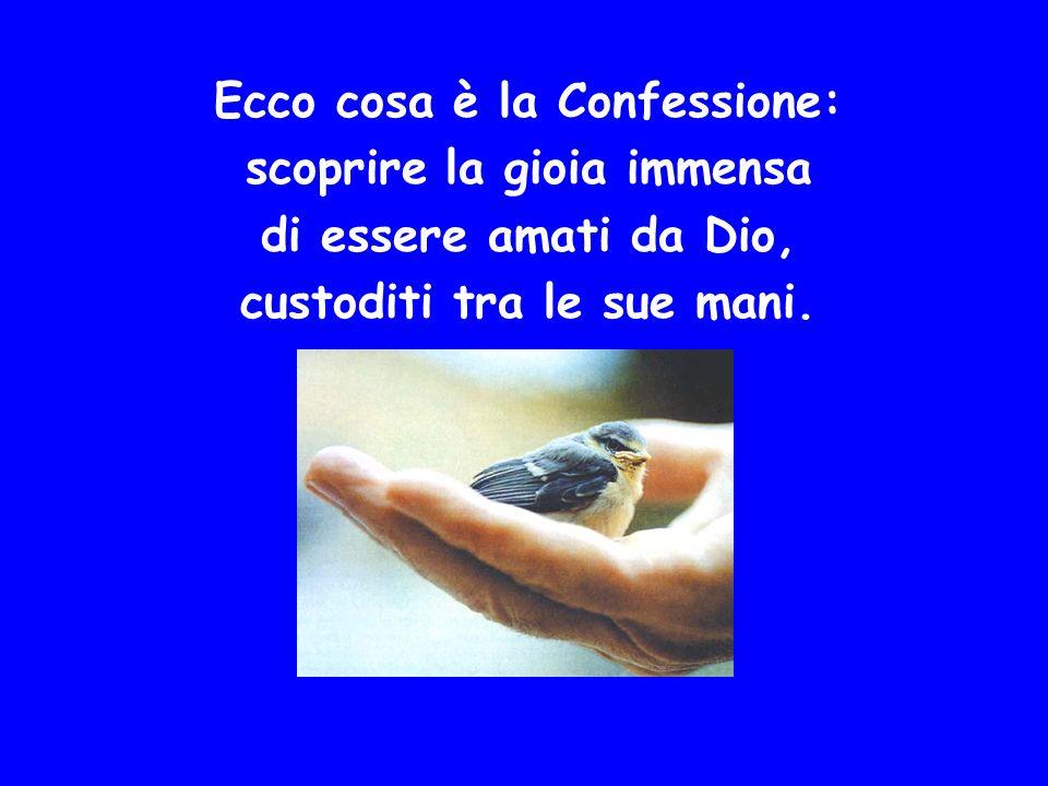 Ecco cosa è la Confessione: scoprire la gioia immensa di essere amati da Dio, custoditi tra le sue mani.