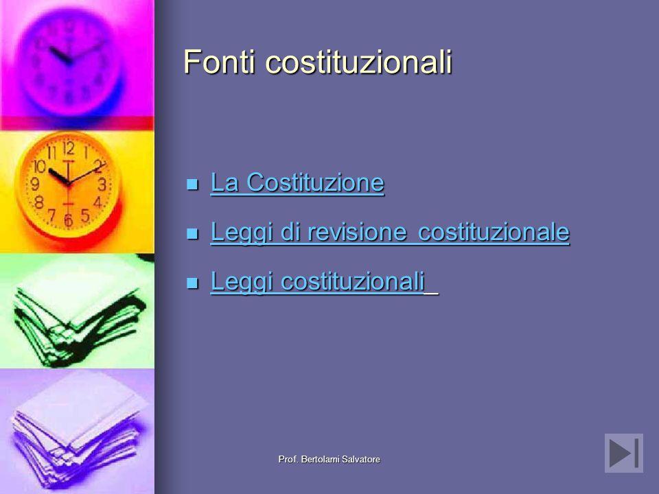 Prof. Bertolami Salvatore Gerarchia delle fonti