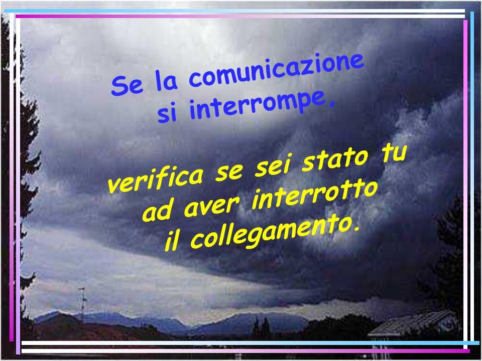 Se la comunicazione si interrompe, verifica se sei stato tu ad aver interrotto il collegamento.