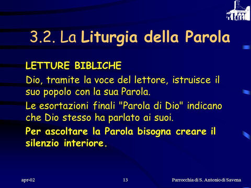Parrocchia di S. Antonio di Savena apr-0212 COLLETTA il celebrante alza e allarga le braccia nel gesto universale dell'orante. Nella pausa di silenzio
