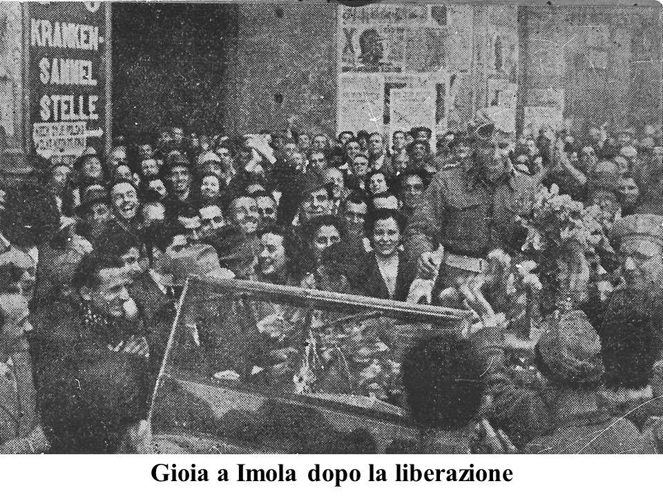 Gioia a Imola dopo la liberazione