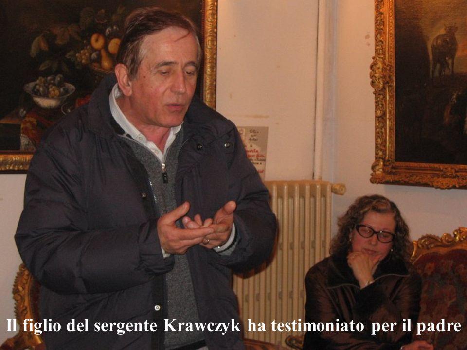 Il figlio del sergente Krawczyk ha testimoniato per il padre