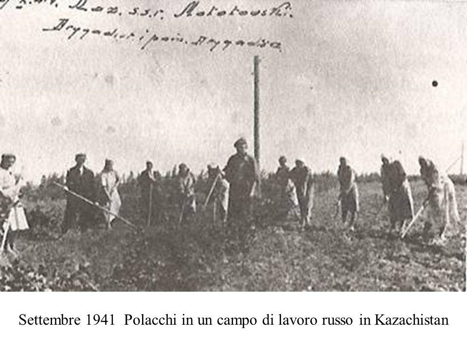 Settembre 1941 Polacchi in un campo di lavoro russo in Kazachistan
