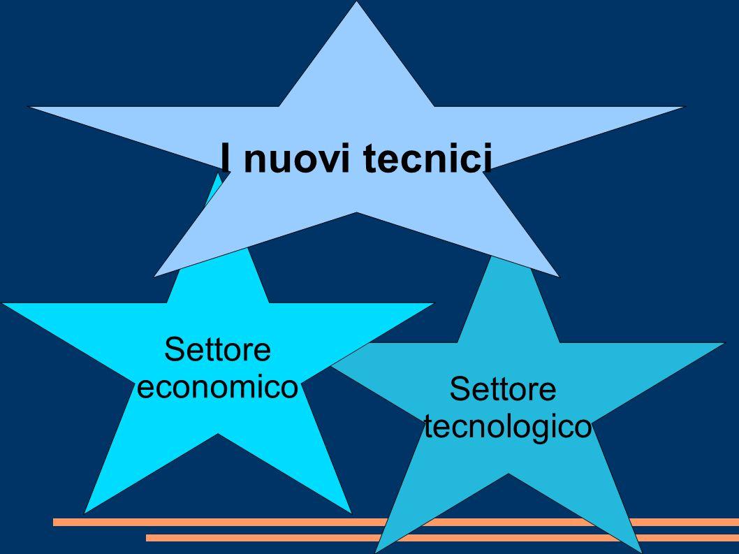 Settore tecnologico Settore economico I nuovi tecnici