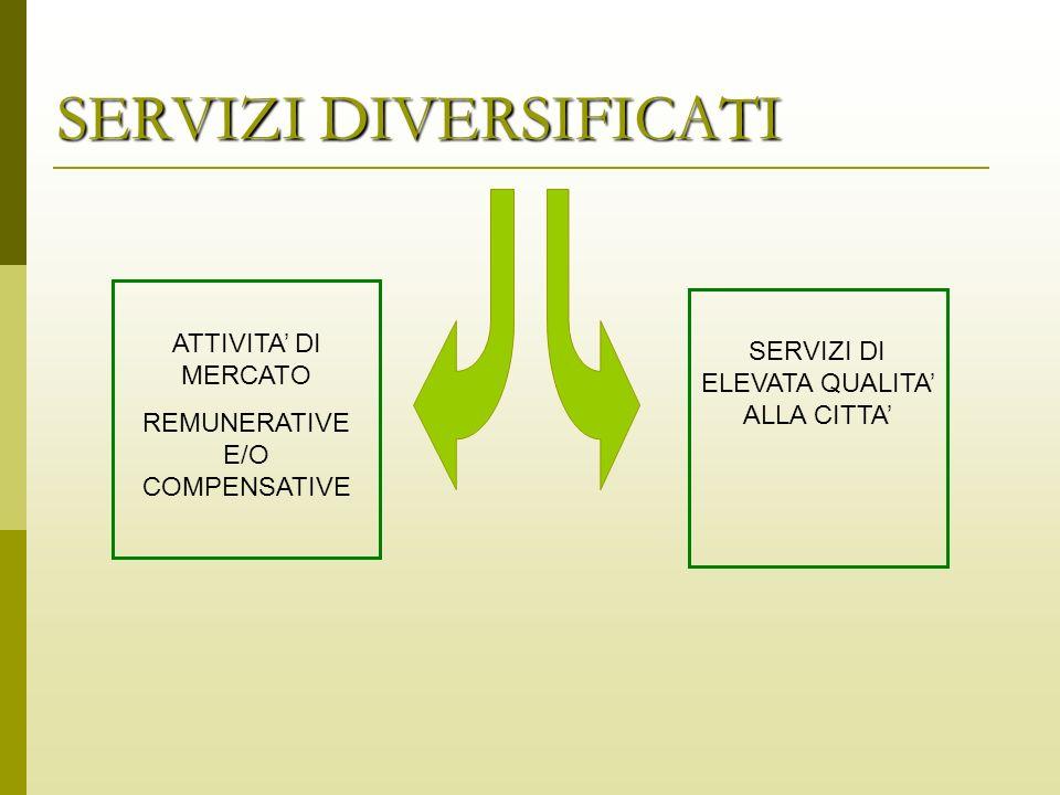 ATTIVITA DI MERCATO REMUNERATIVE E/O COMPENSATIVE SERVIZI DI ELEVATA QUALITA ALLA CITTA