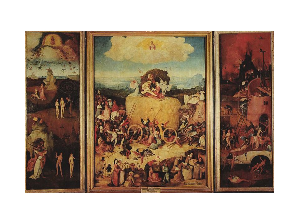 Hieronymus BOSCH TRITTICO DEL FIENO (1500)
