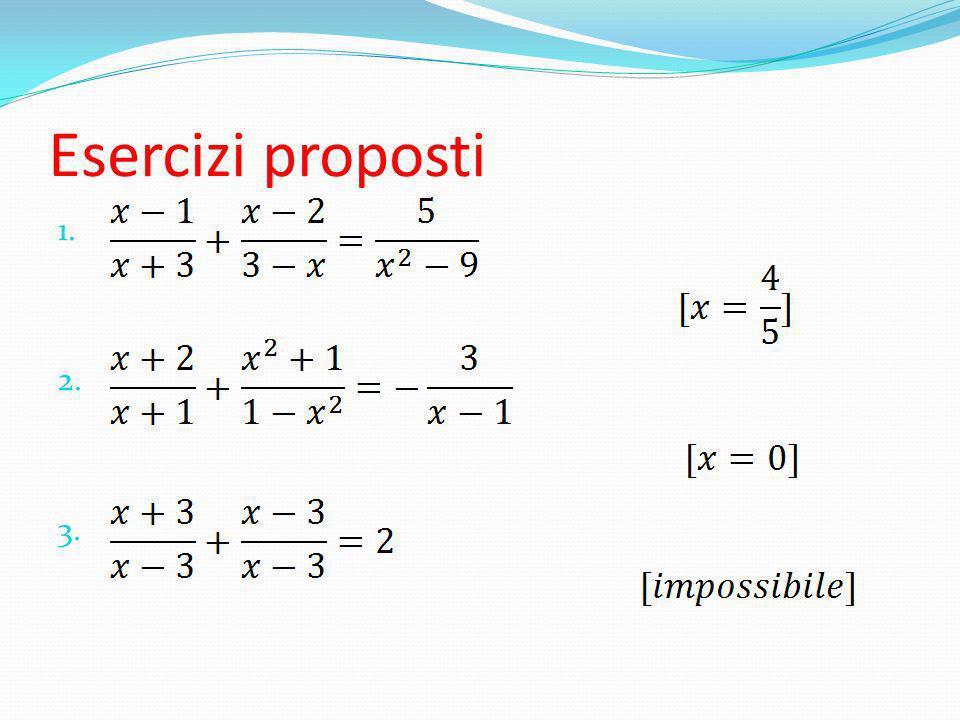 Esercizi proposti 1. 2. 3.