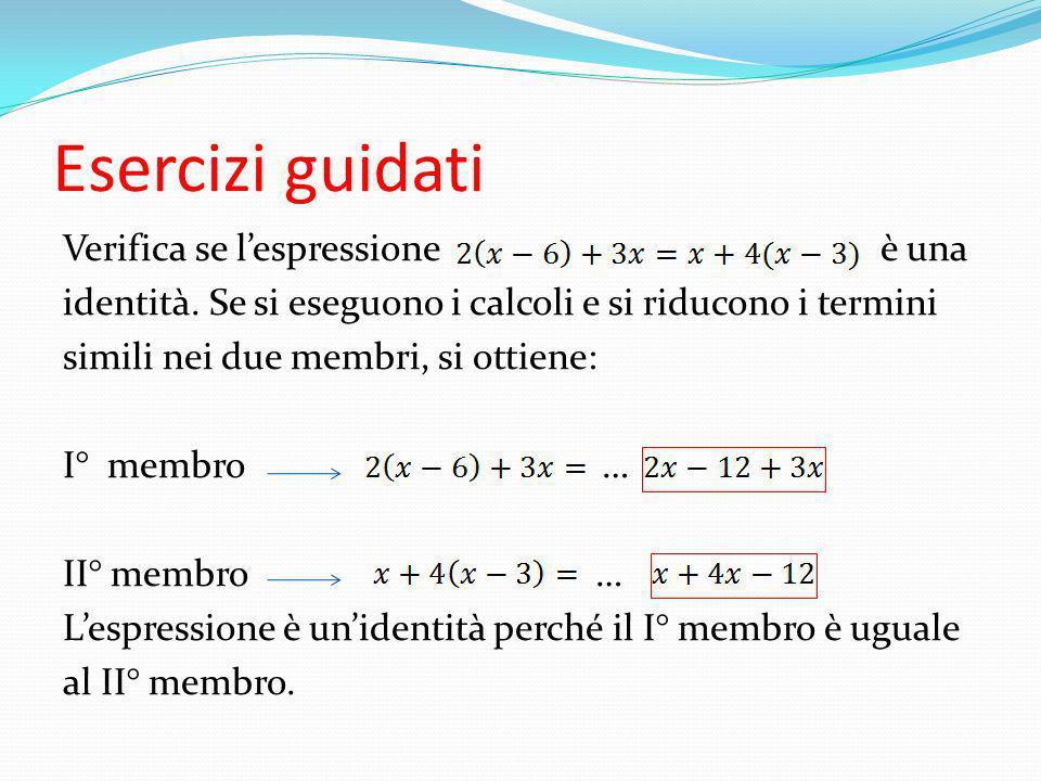 Riduci in forma normale la seguente equazione e indica il suo grado: Si eseguono i calcoli Si spostano tutti i termini al I° membro Si riducono i termini simili … Pertanto lequazione è di grado …….