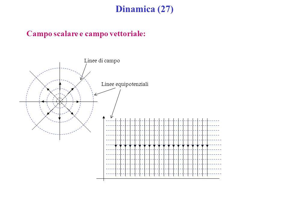 Dinamica (27) Campo scalare e campo vettoriale: Linee di campo Linee equipotenziali