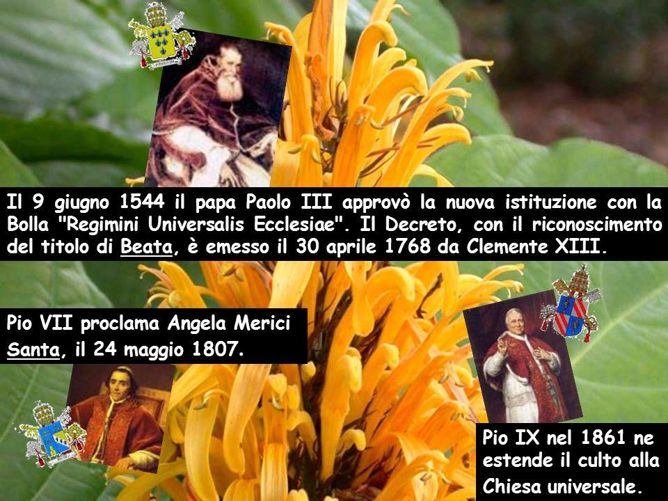 Il 9 giugno 1544 il papa Paolo III approvò la nuova istituzione con la Bolla