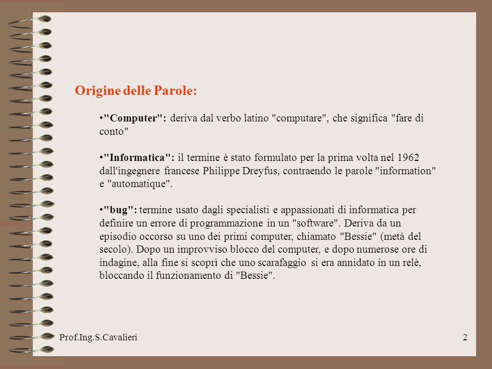 Prof.Ing.S.Cavalieri23 1972 Le prime calcolatrici tascabili diventano popolari e mandano in soffitta i vecchi regoli.