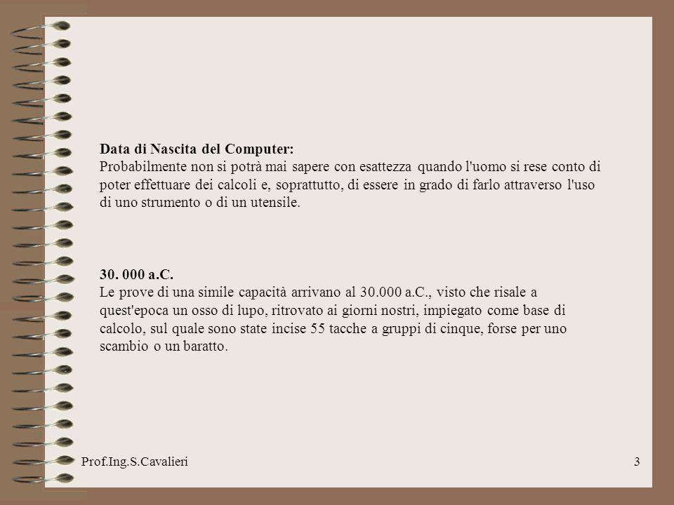Prof.Ing.S.Cavalieri4 4.000-1.200 a.C.