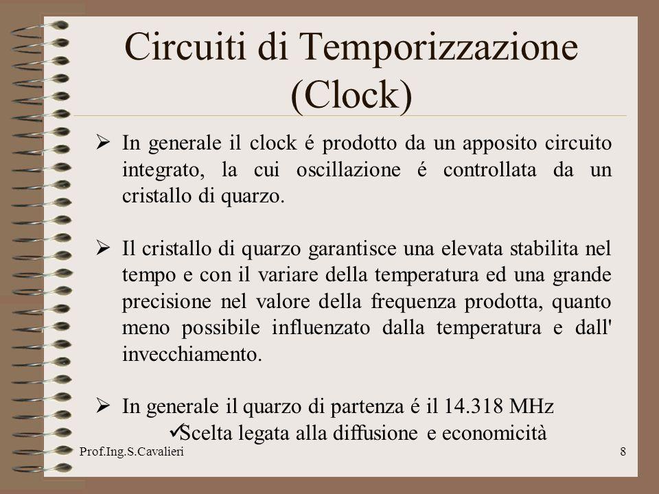 Prof.Ing.S.Cavalieri9 Circuiti di Temporizzazione (Clock)