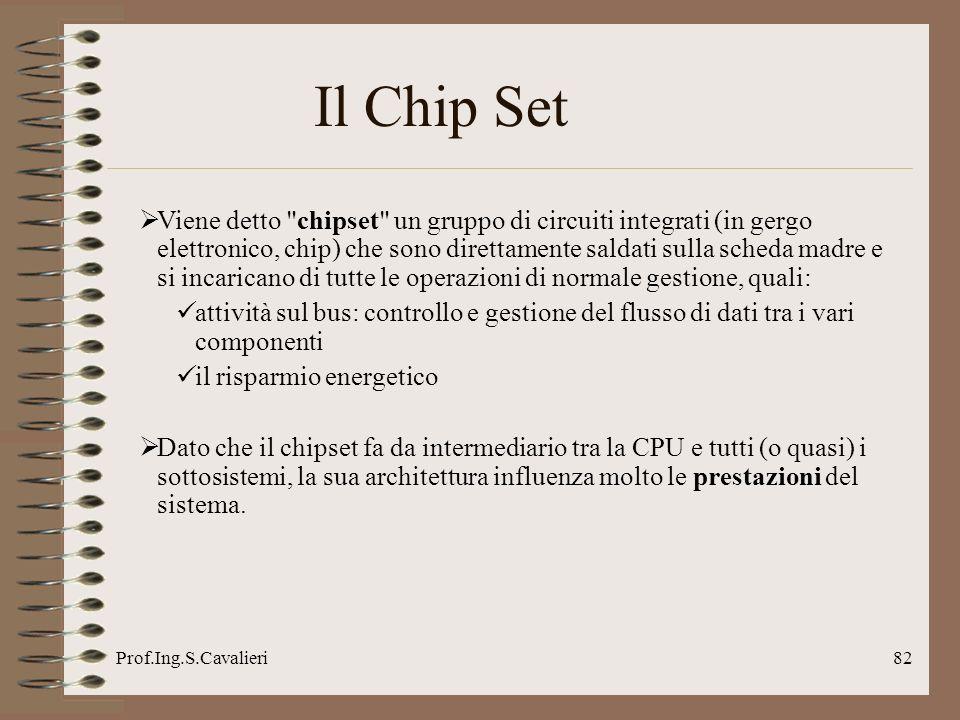 Prof.Ing.S.Cavalieri82 Il Chip Set Viene detto