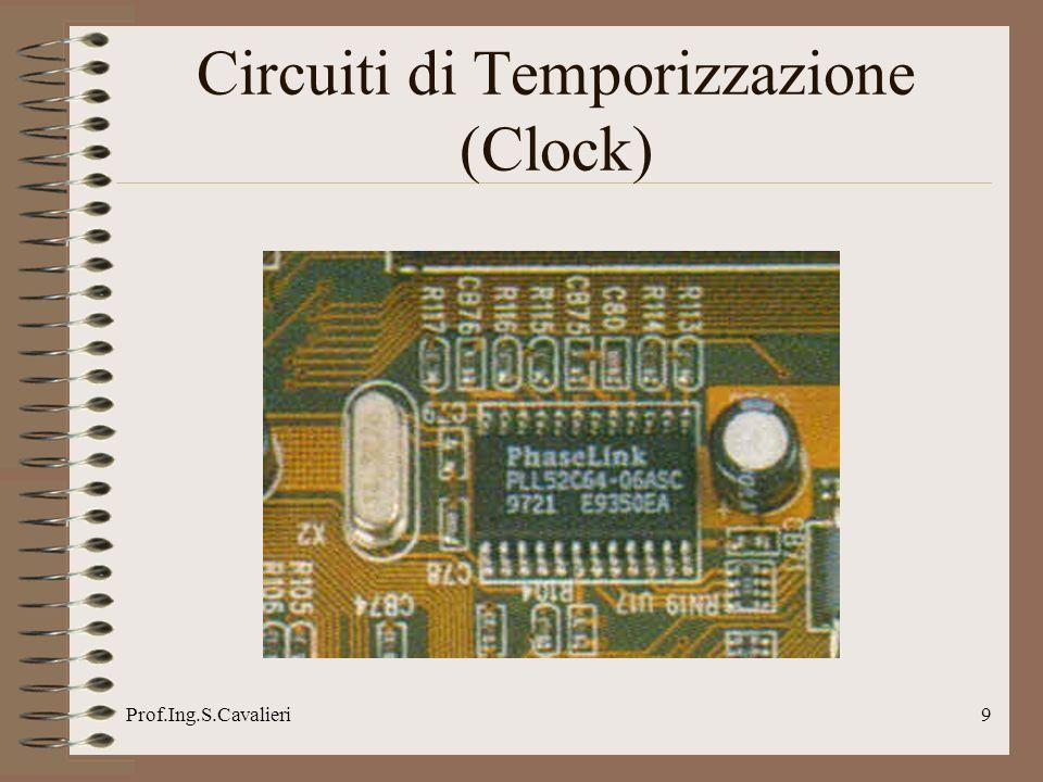 Prof.Ing.S.Cavalieri90 BIOS Memorizzazione Configurazione Il BIOS memorizza la configurazione hardware del computer (periferiche non plug&play) e i parametri del chipset e ne permette allutente la modifica.