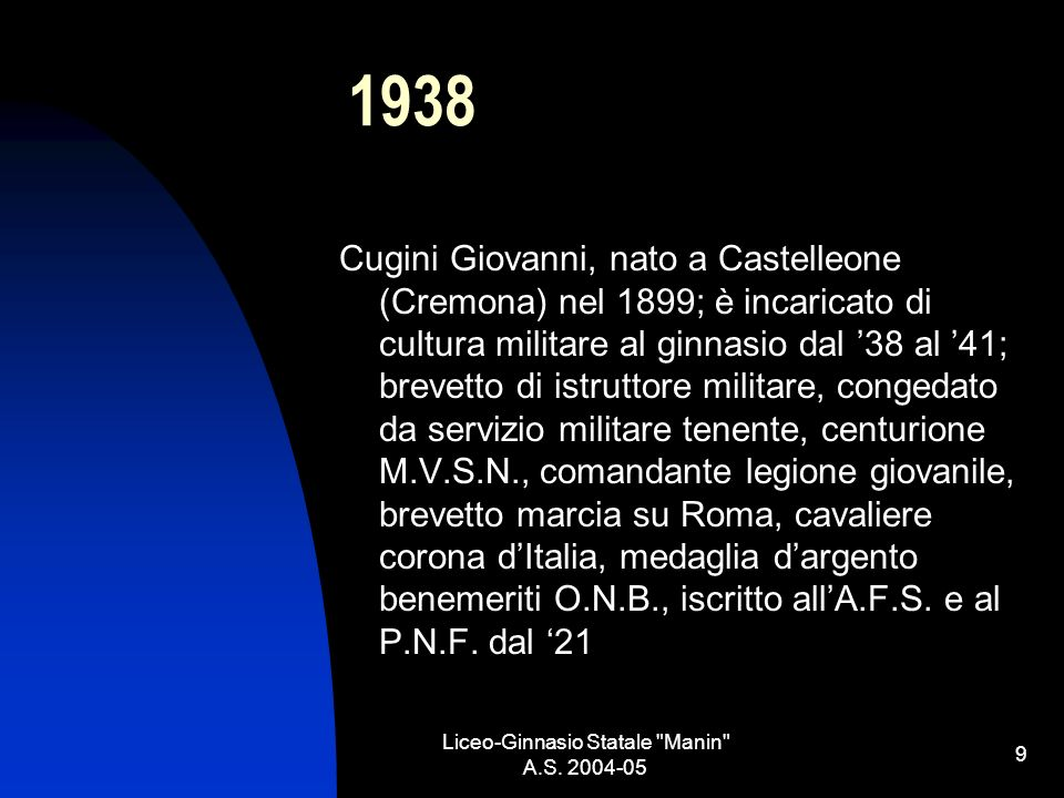 Liceo-Ginnasio Statale Manin A.S.