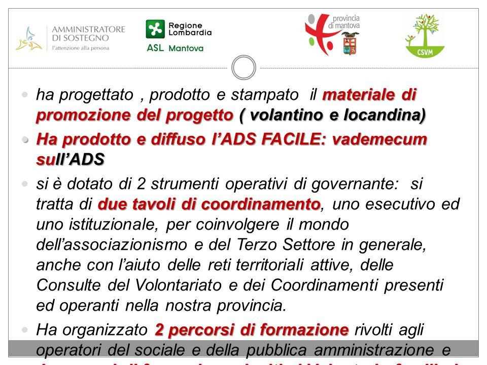 materiale di promozione del progetto ( volantino e locandina) ha progettato, prodotto e stampato il materiale di promozione del progetto ( volantino e
