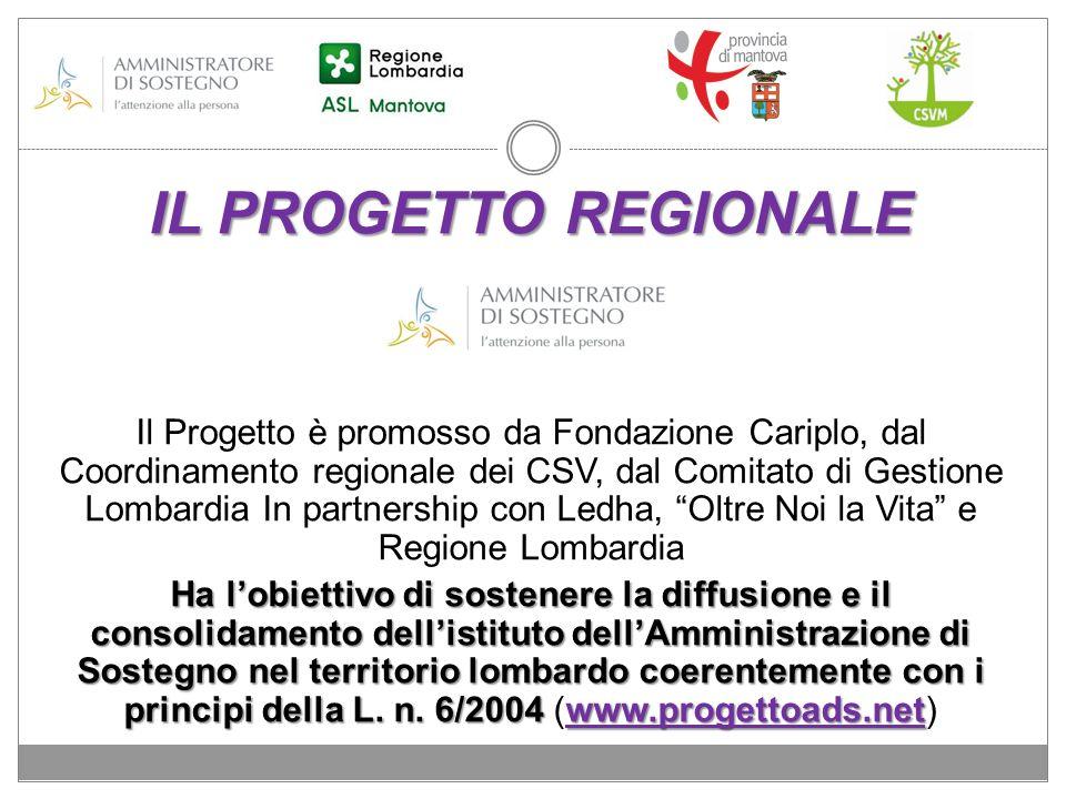 IL PROGETTO REGIONALE Il Progetto è promosso da Fondazione Cariplo, dal Coordinamento regionale dei CSV, dal Comitato di Gestione Lombardia In partner