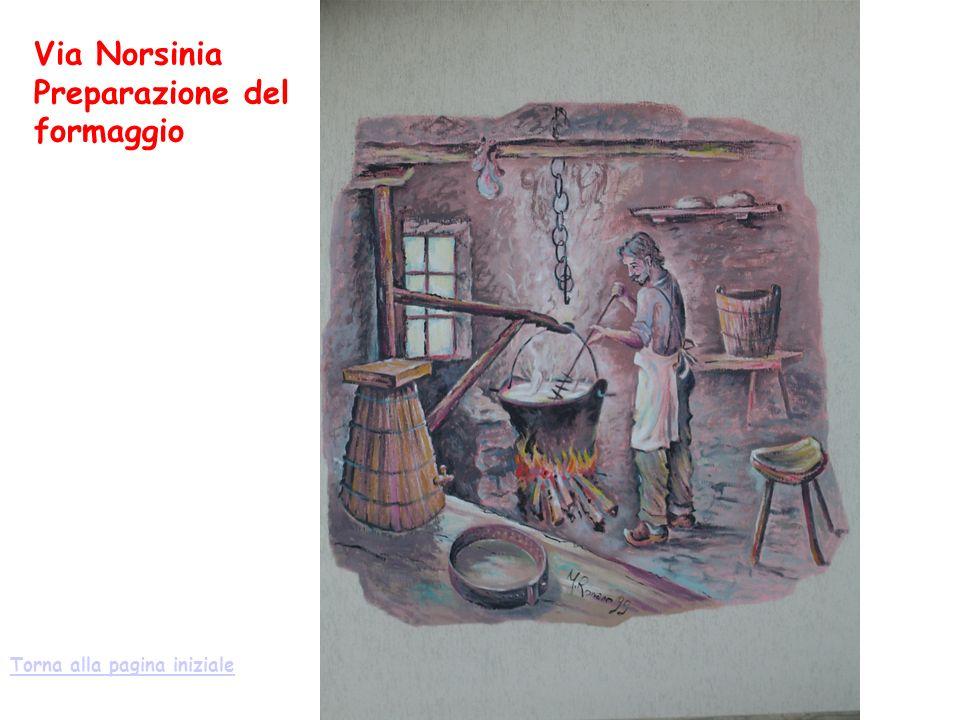 Via Norsinia Preparazione del formaggio Torna alla pagina iniziale