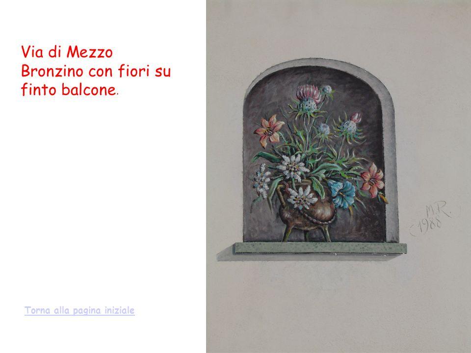 Via di Mezzo Bronzino con fiori su finto balcone. Torna alla pagina iniziale