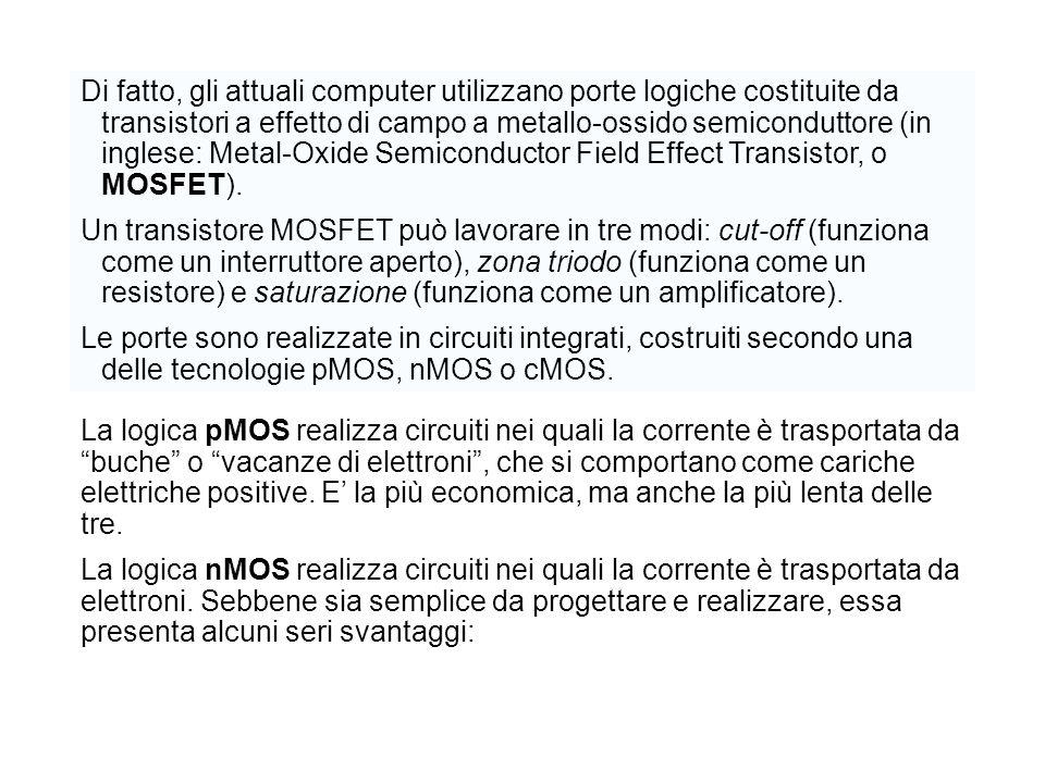Di fatto, gli attuali computer utilizzano porte logiche costituite da transistori a effetto di campo a metallo-ossido semiconduttore (in inglese: Meta