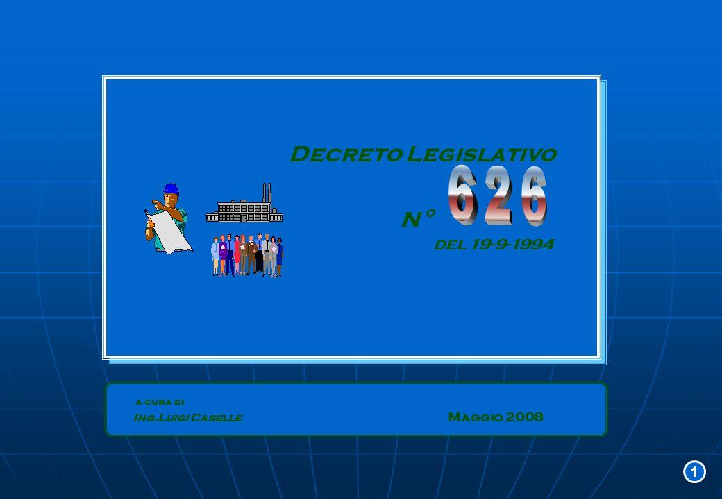 la VALUTAZIONE DEL RISCHIO la VALUTAZIONE DEL RISCHIO identificare i PERICOLI identificare tutte LE PERSONE ESPOSTE stimare i RISCHI e l affidabilità e l adeguatezza delle misure preventive definire le MISURE CAUTELARI nuove MISURE PER RIDURRE I RISCHI AZIONI CONSEGUENTI AZIONI CONSEGUENTI scadenze: 1°-7-1996 1°-1-1997 scadenze: 1°-7-1996 1°-1-1997 12D.Lgs
