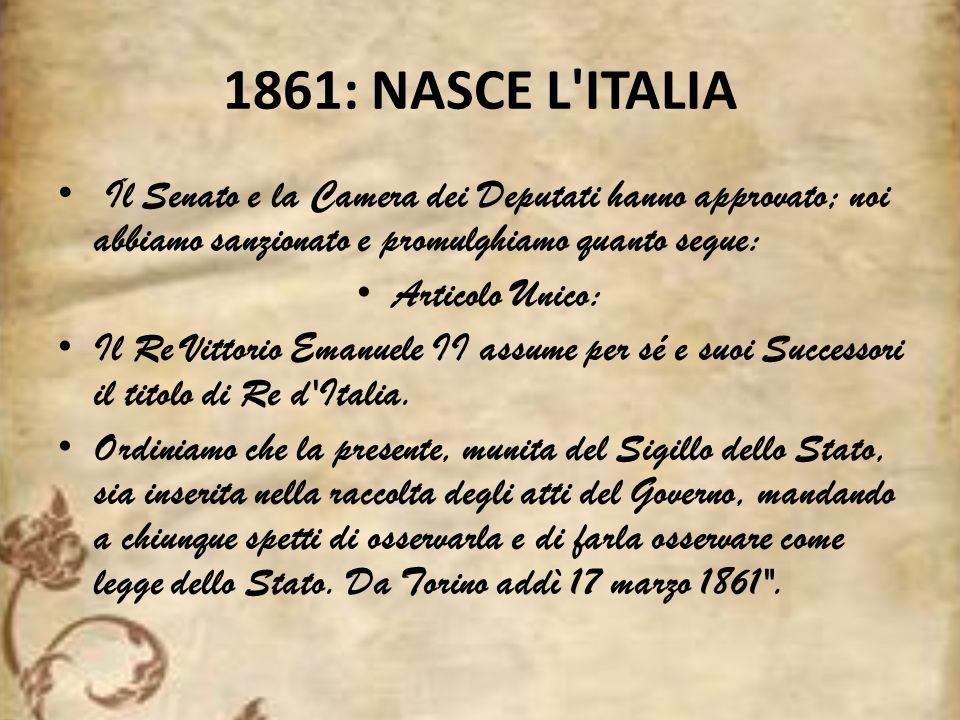 17 MARZO 2011 Il 17 Marzo 2011, giorno del 150° Anniversario dellUnità dItalia, sarà Festa Nazionale.
