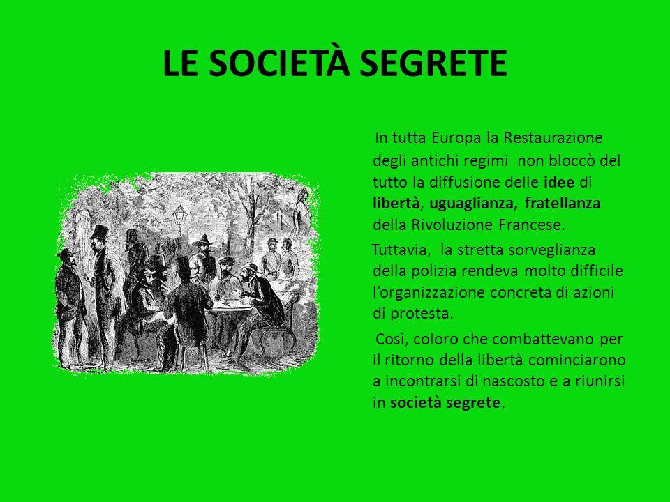 LITALIA DOPO IL CONGRESSO DI VIENNA Dopo il Congresso di Vienna, lItalia fu nuovamente divisa in tanti piccoli Stati, ognuno col proprio sovrano e le