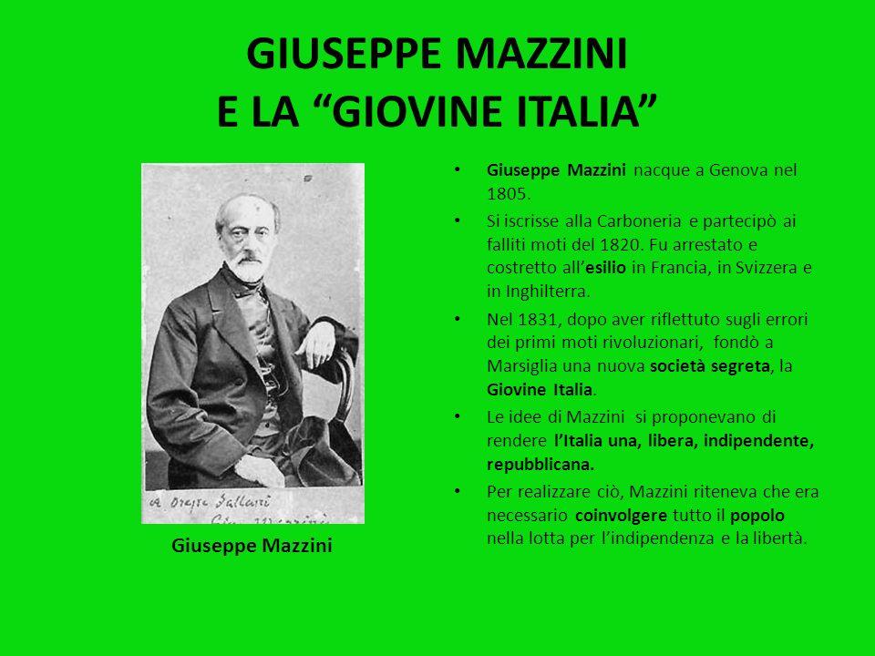 Nel 1830 scoppiarono nuovi moti rivoluzionari in diverse parti dEuropa: Francia, Olanda, Grecia … In Italia le rivolte scoppiarono in Romagna, nello S