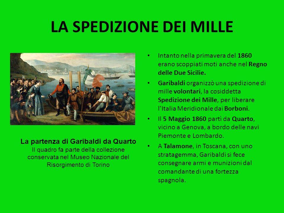 Garibaldi, dopo la Spedizione dei Mille, ebbe molti contrasti con il governo che ne temeva la popolarità e la tendenza ad agire in modo autonomo. Nel