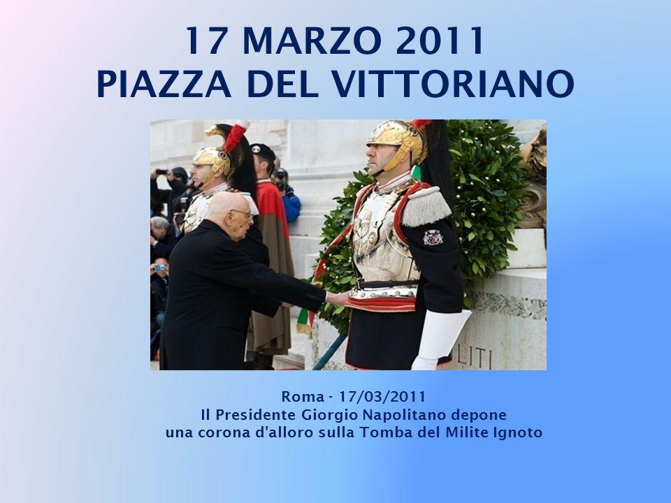 CERIMONIE UFFICIALI E' iniziata intorno alle 9 la lunga giornata del Presidente della Repubblica Giorgio Napolitano tra i luoghi simbolo del Risorgime