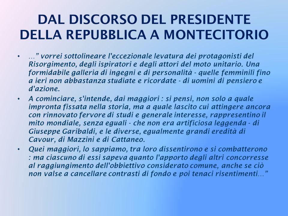 … Il plurisecolare cammino dell'idea d'Italia si era concluso : quell'idea-guida, per lungo tempo irradiatasi grazie all'impulso di altissimi messaggi