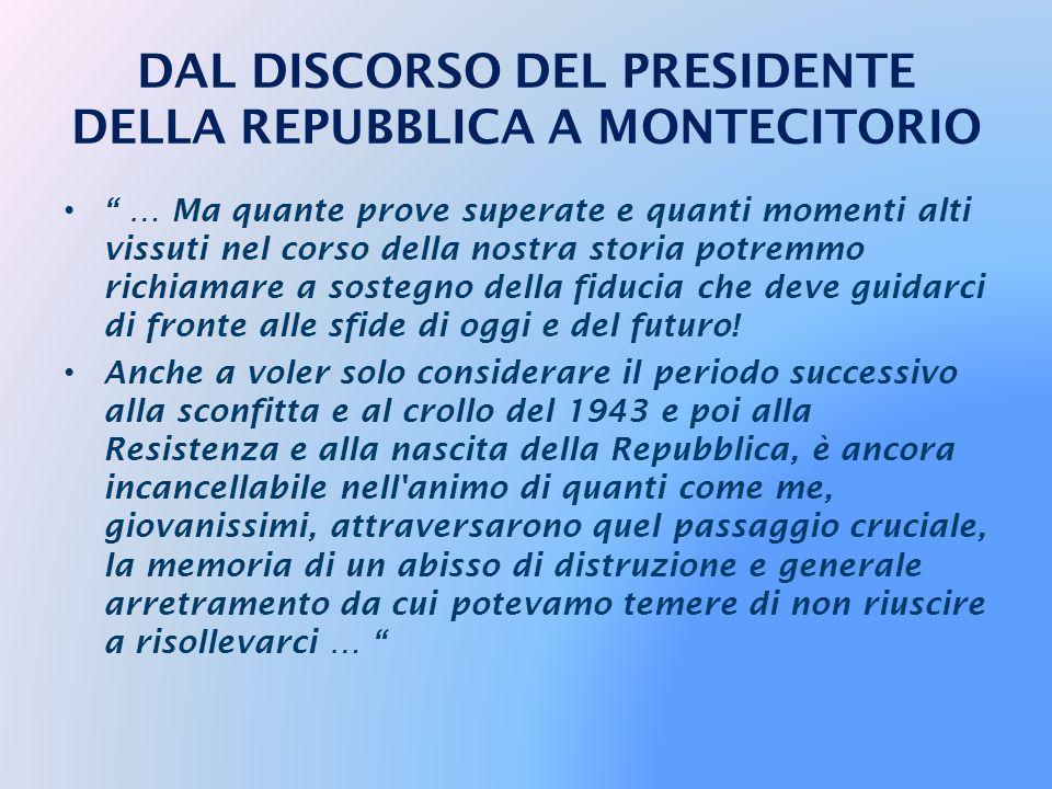 … fare del Centocinquantenario dell'Unità d'Italia l'occasione per una profonda riflessione critica, per quello che ho chiamato
