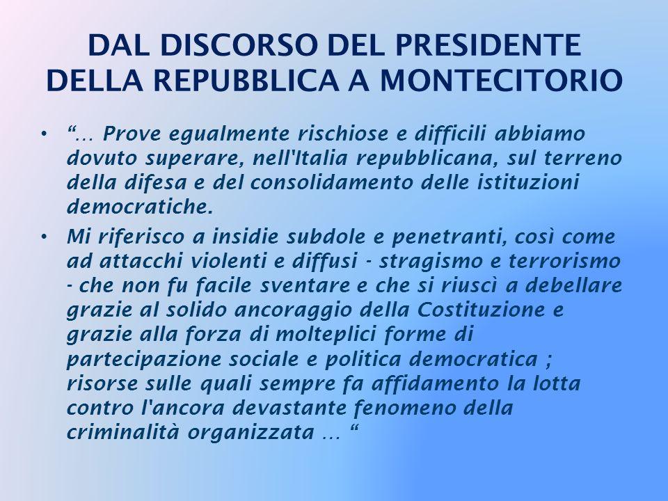 … Eppure l'Italia unita, dopo aver scongiurato con sapienza politica rischi di separatismo e di amputazione del territorio nazionale, riuscì a rimette