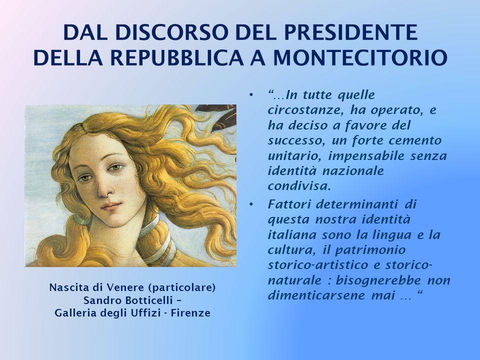 … Prove egualmente rischiose e difficili abbiamo dovuto superare, nell'Italia repubblicana, sul terreno della difesa e del consolidamento delle istitu