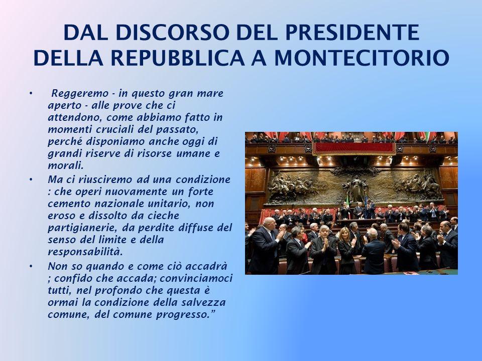Valgano dunque le celebrazioni del Centocinquantenario a diffondere e approfondire tra gli italiani il senso della missione e dell'unità nazionale : c
