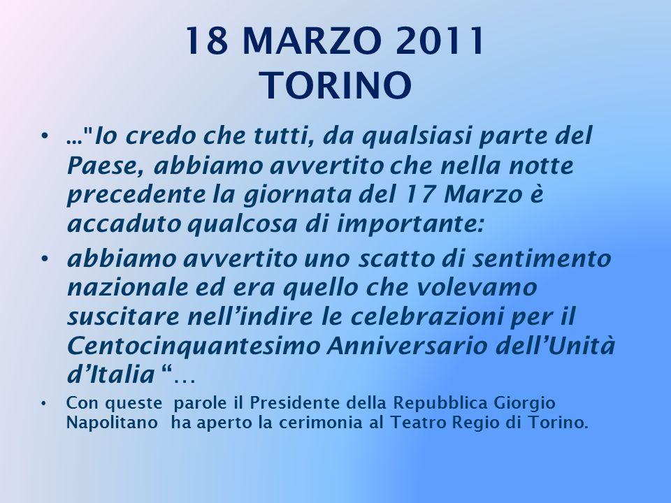 Torino - 18/03/2011 Il Presidente Giorgio Napolitano al suo arrivo al Teatro Regio in occasione delle celebrazioni per il 150° Anniversario dell'Unità