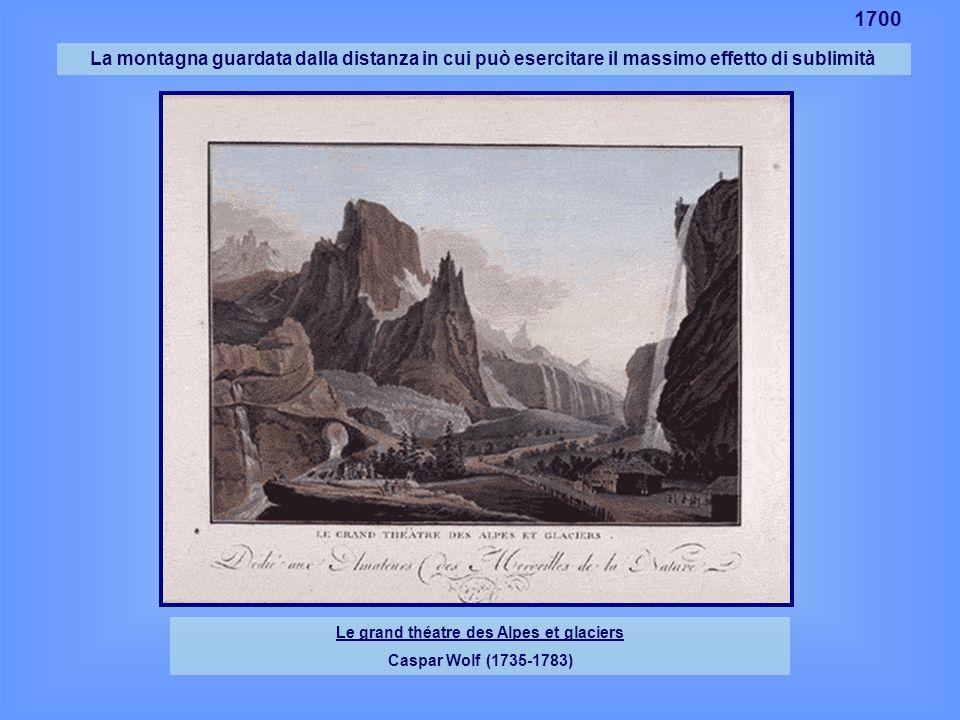 La montagna guardata dalla distanza in cui può esercitare il massimo effetto di sublimità Le grand théatre des Alpes et glaciers Caspar Wolf (1735-178